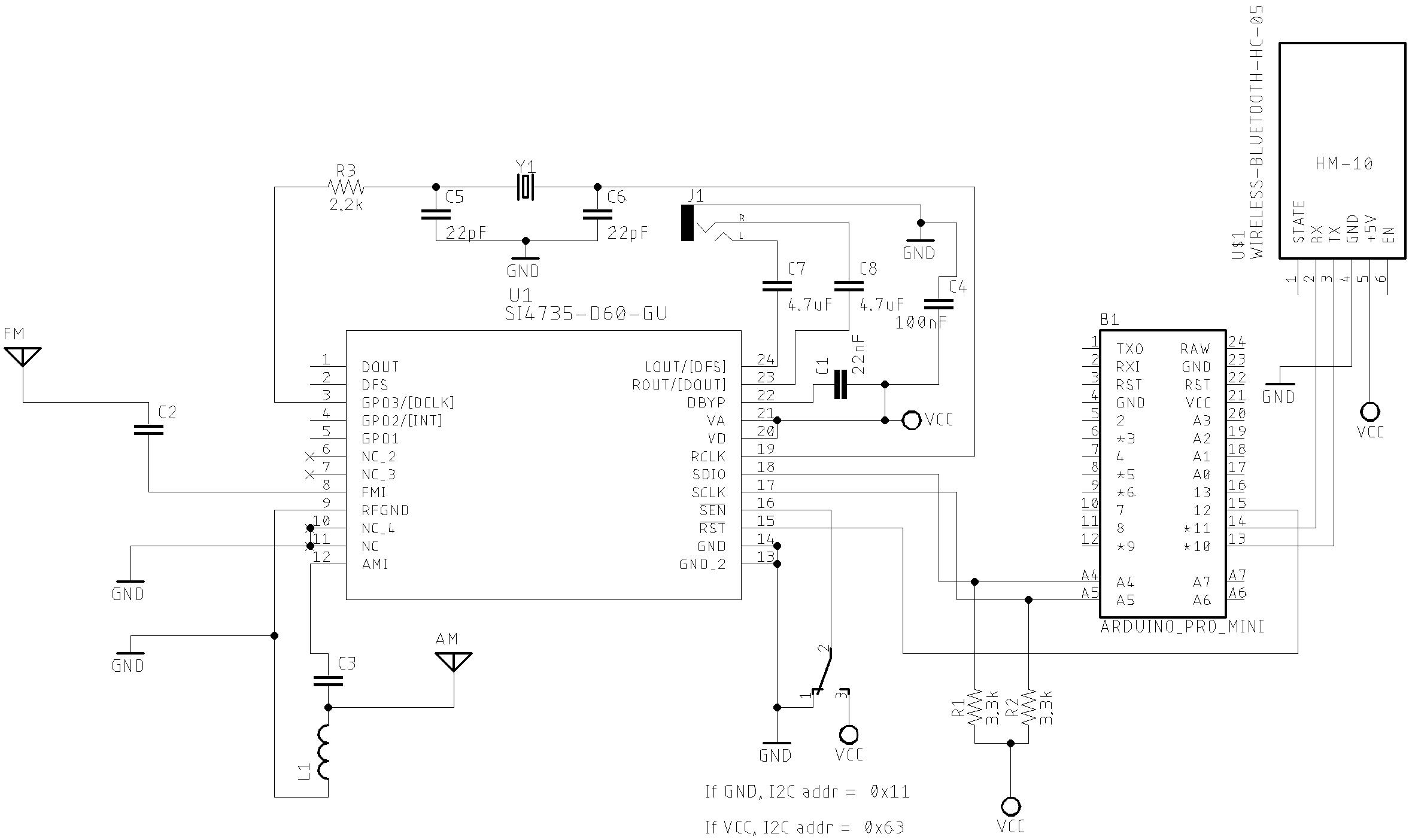 Mobile device remote control Schematic